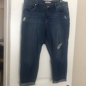 Plus size cropped jeans, never worn